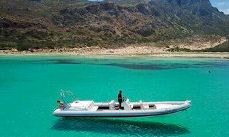 34' Cobra Royal RIB Rental in Trachilos, Greece