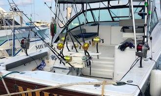 "Fishing Charter On 33ft ""Manta"" Sport Fisherman Yacht In Manta, Ecuador"