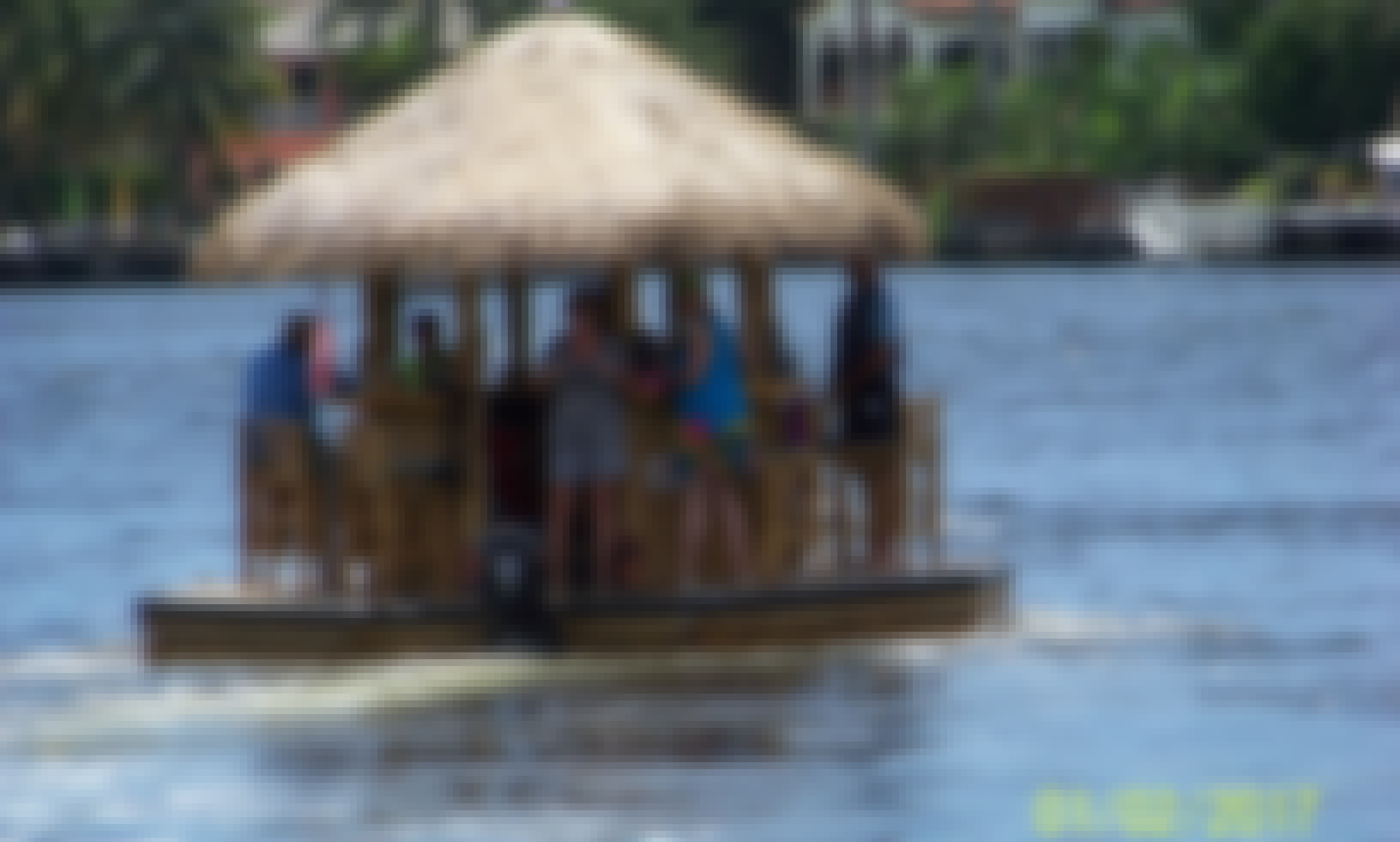 Floating Tiki Bar Pontoon in Fort Lauderdale, Florida