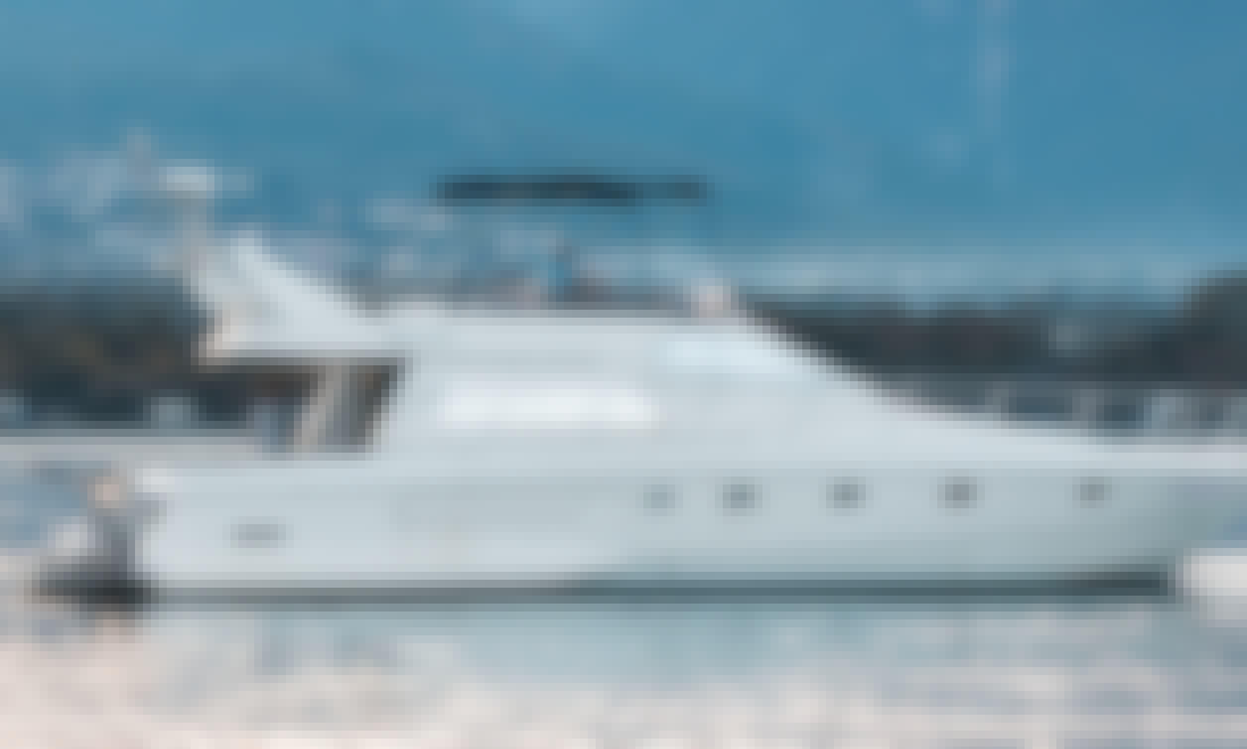 Relax in a Luxury Ferretti Yacht flybridge 45ft.