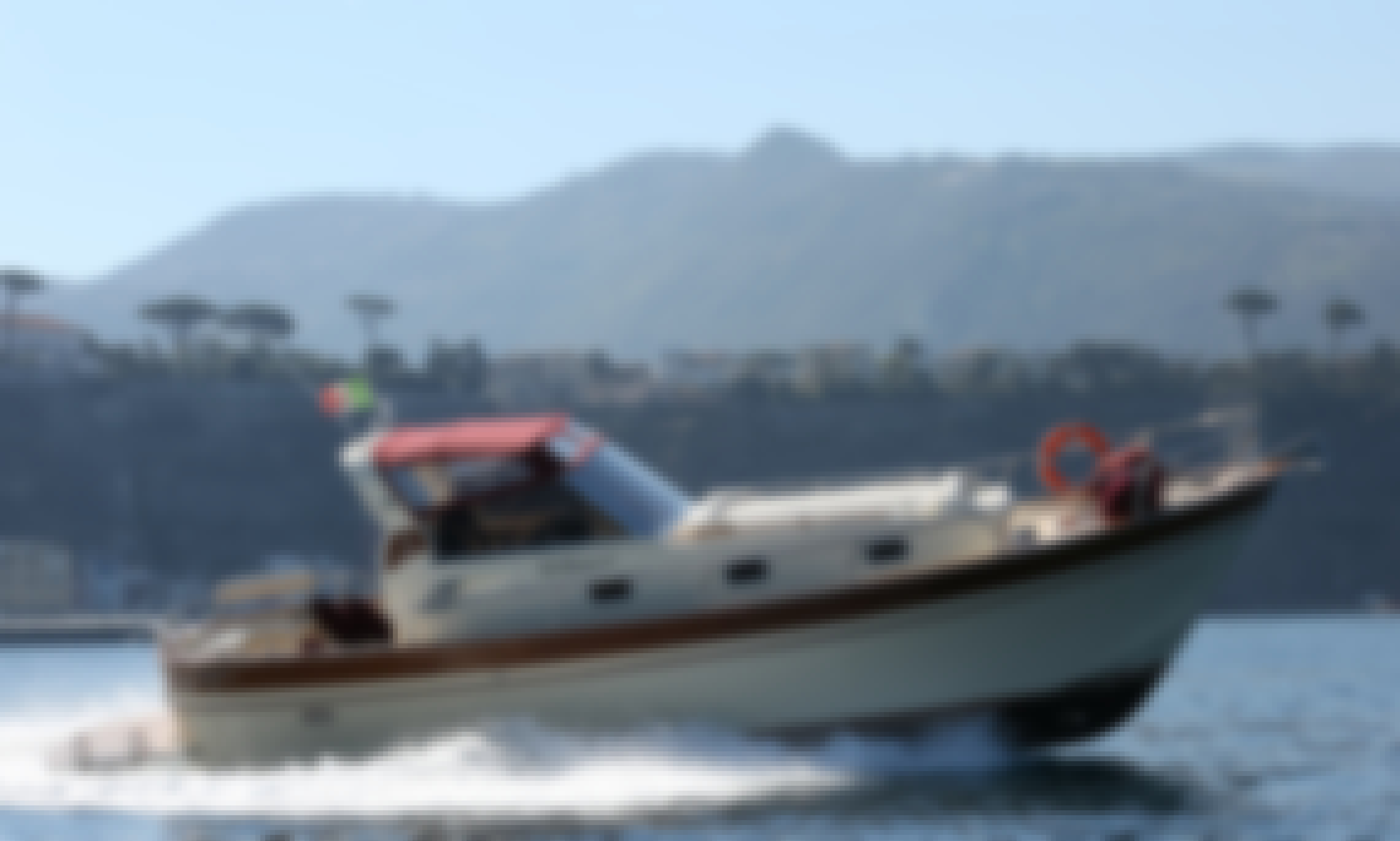 """Gozzo"" the wood traditional boat rental in Sorrento, Capri and Amalfi Coast"