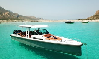 Private Cruises in Chania onboard Axopar 37 TT Power Yacht with Captain and Crew