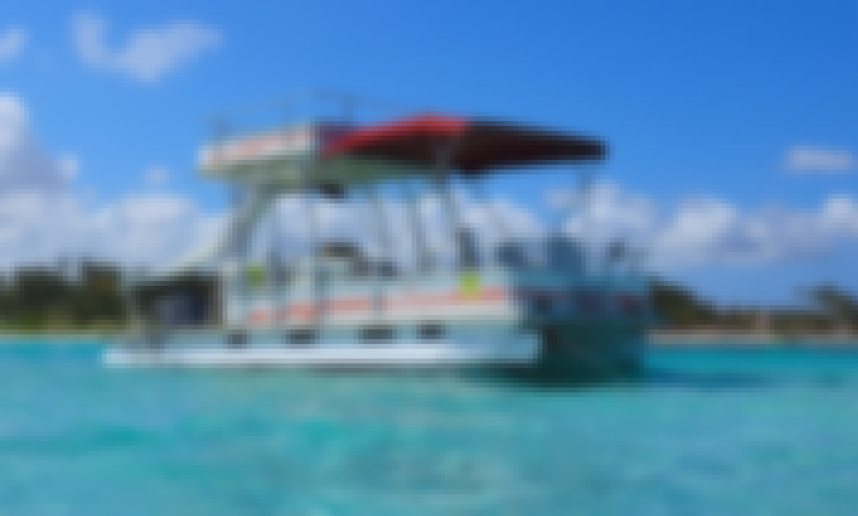 24' Pontoon Boat  PUNTA CANA, Natural pool, Snorkeling