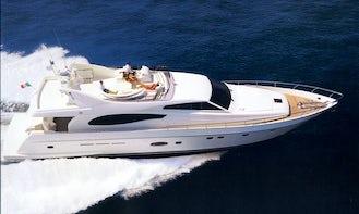 Charter Luxury Ferreti Power Mega Yacht in Eilat, Israel