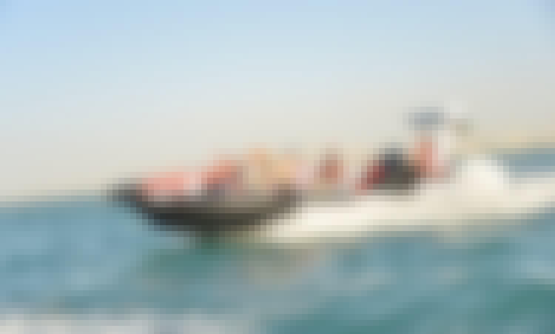 The Black Boats - Luxury, Fast and New in Dubai (sightseeing) 60min Marasi Canal tour, Burj Khalifa, Canal Waterfall