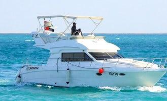 Gorgeous 45' Motor Yacht for 14 People in Dubai, United Arab Emirates
