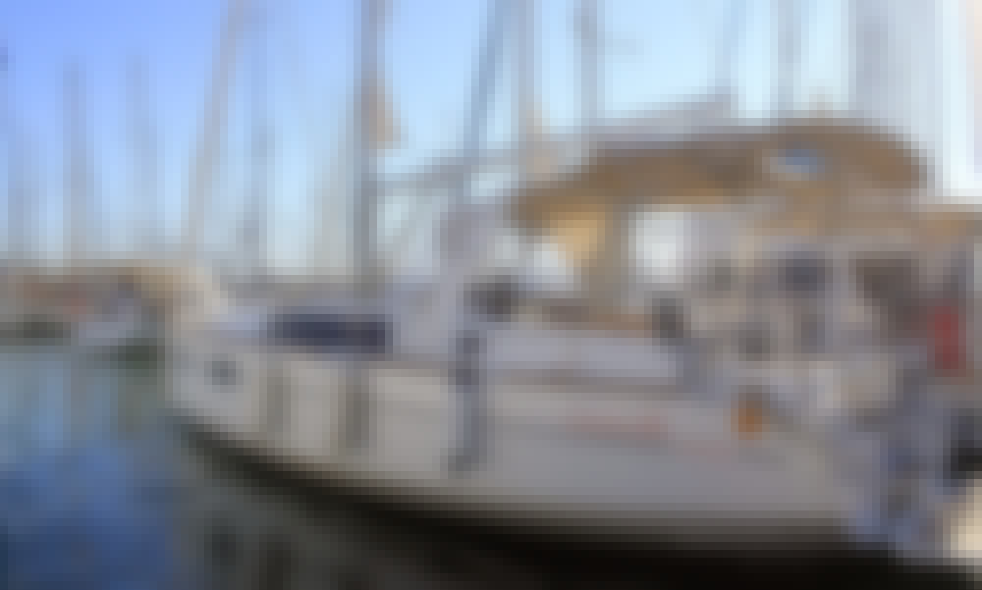 Charter the Brandnew 2020 Oceanis 35.1 Sailing Yacht in Barcelona, Spain!