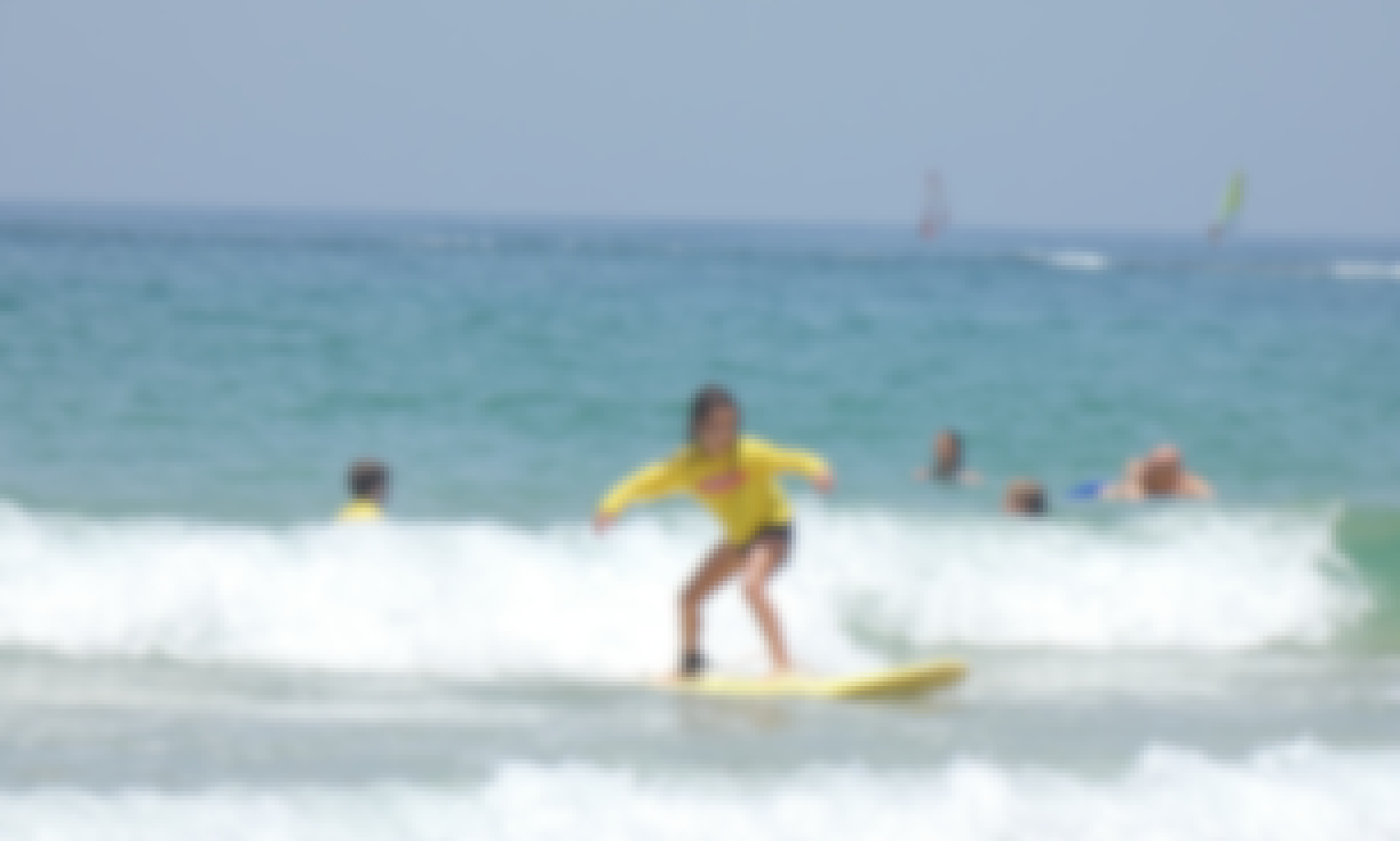 Learning To Surf in Sdot Yam, Israel