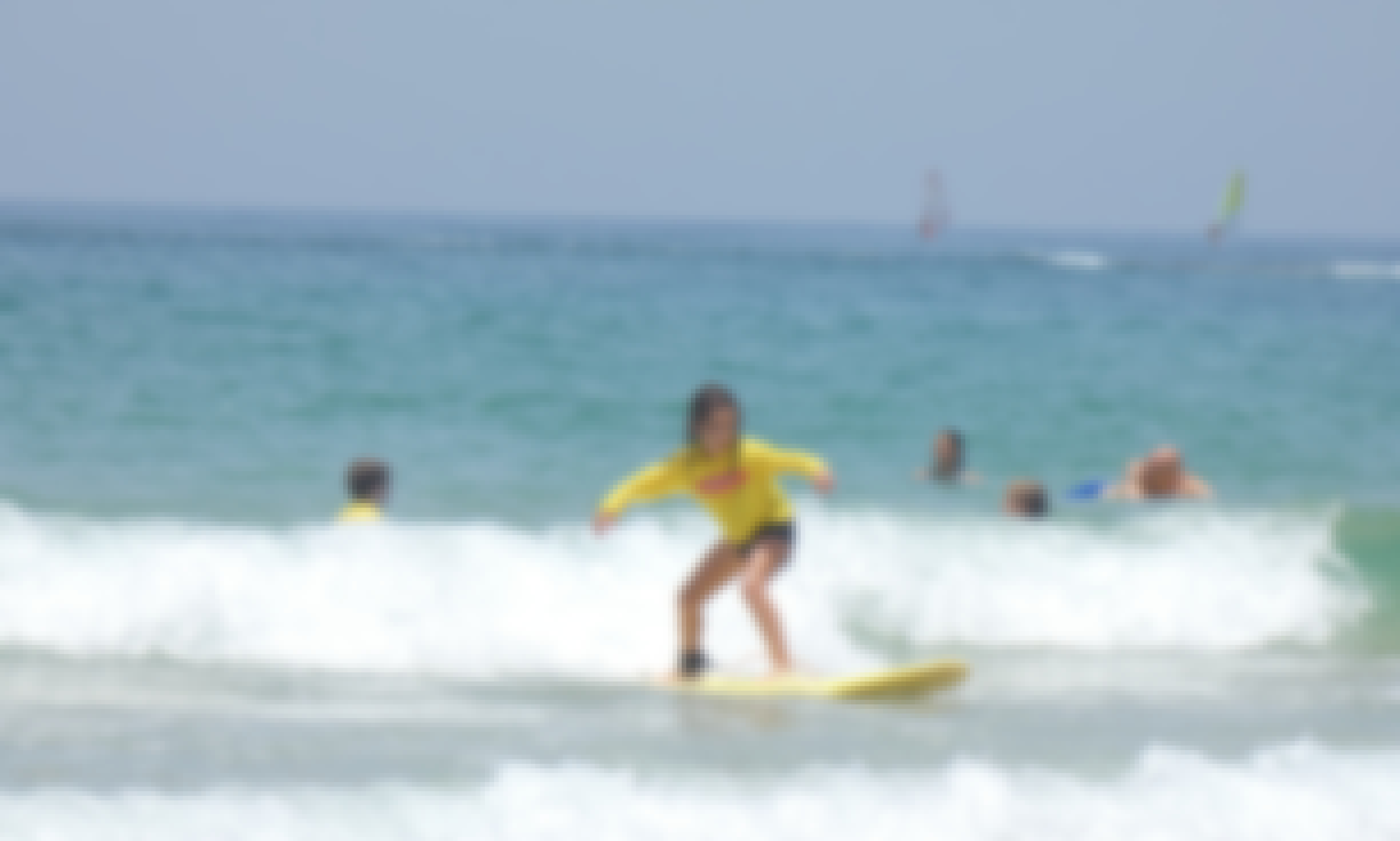 Learning To Surf‎ in Sdot Yam, Israel