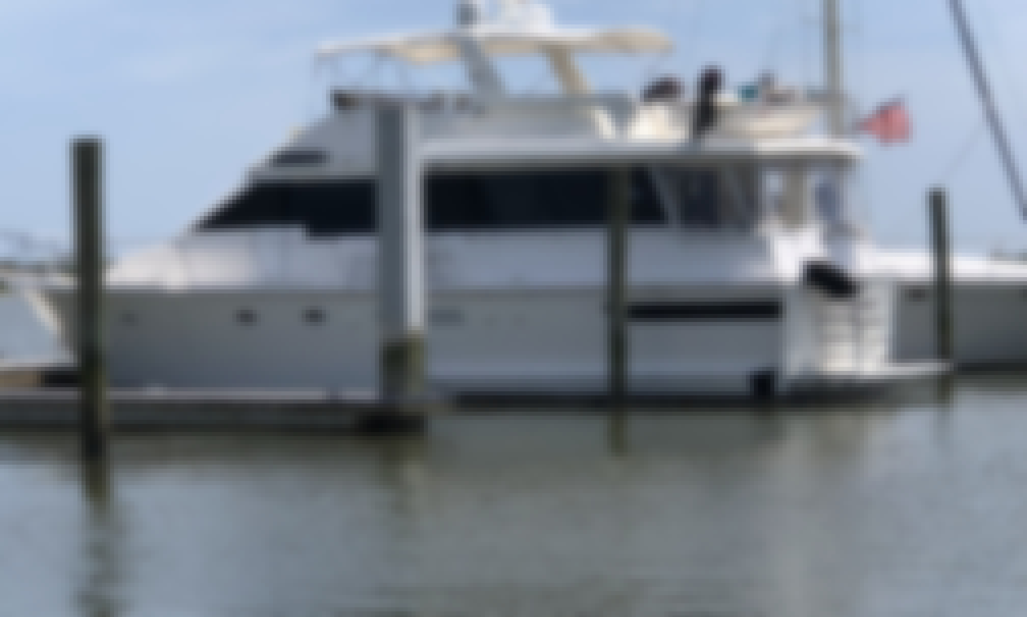 60' Viking Motor Yacht Charter in Clearwater, Florida!