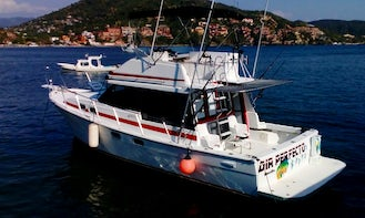 Fishing Charter on 33ft Dia Perfecto Sports Fishermans Yacht in Zihuatanejo, Guerrero
