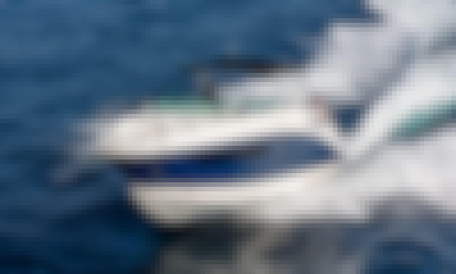 Private Cruise around Santorini onboard Brandnew SeaRay Sundancer 265 Motor Yacht!