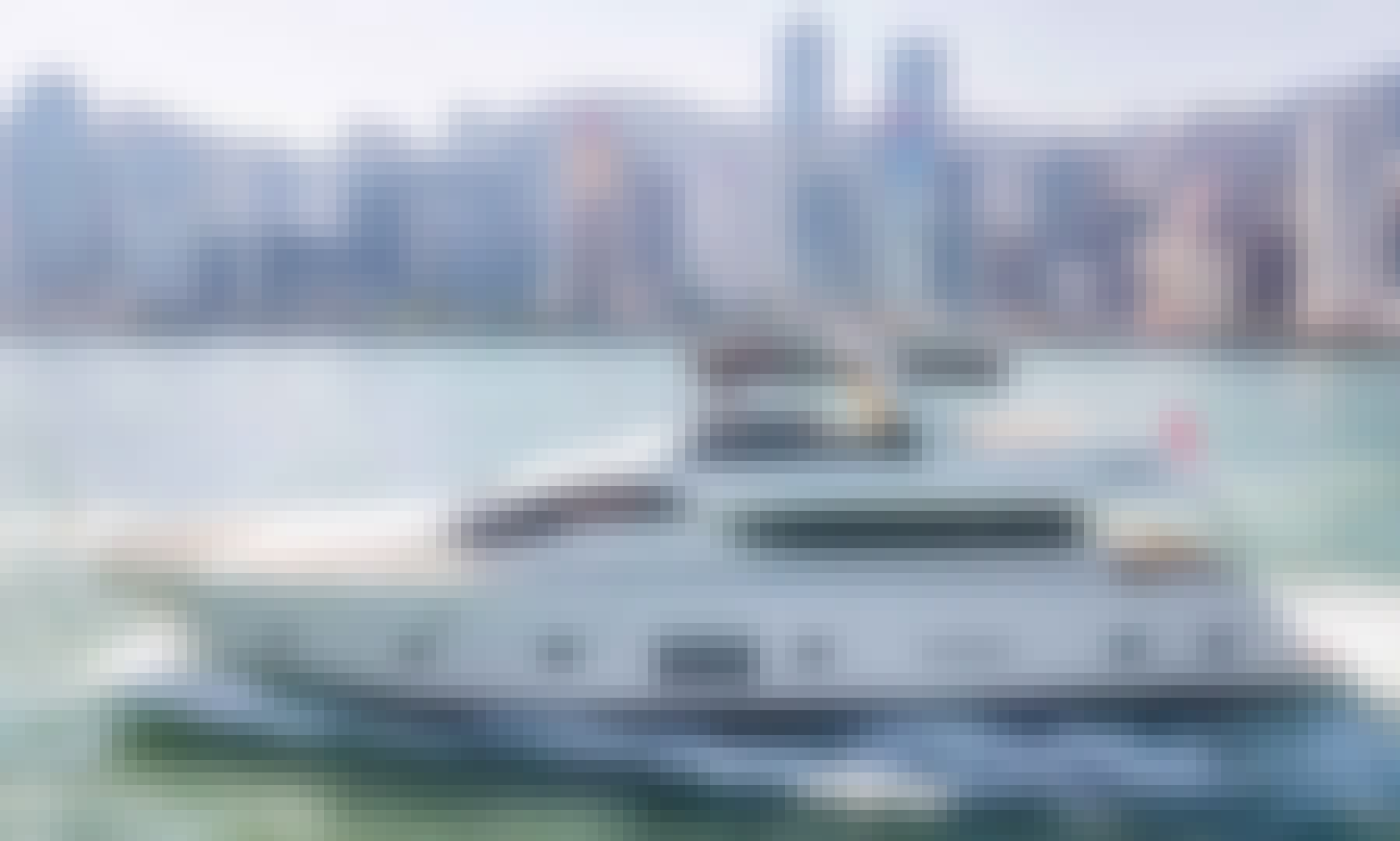 90ft Custom Power Mega Yacht Rental in Hong Kong Island