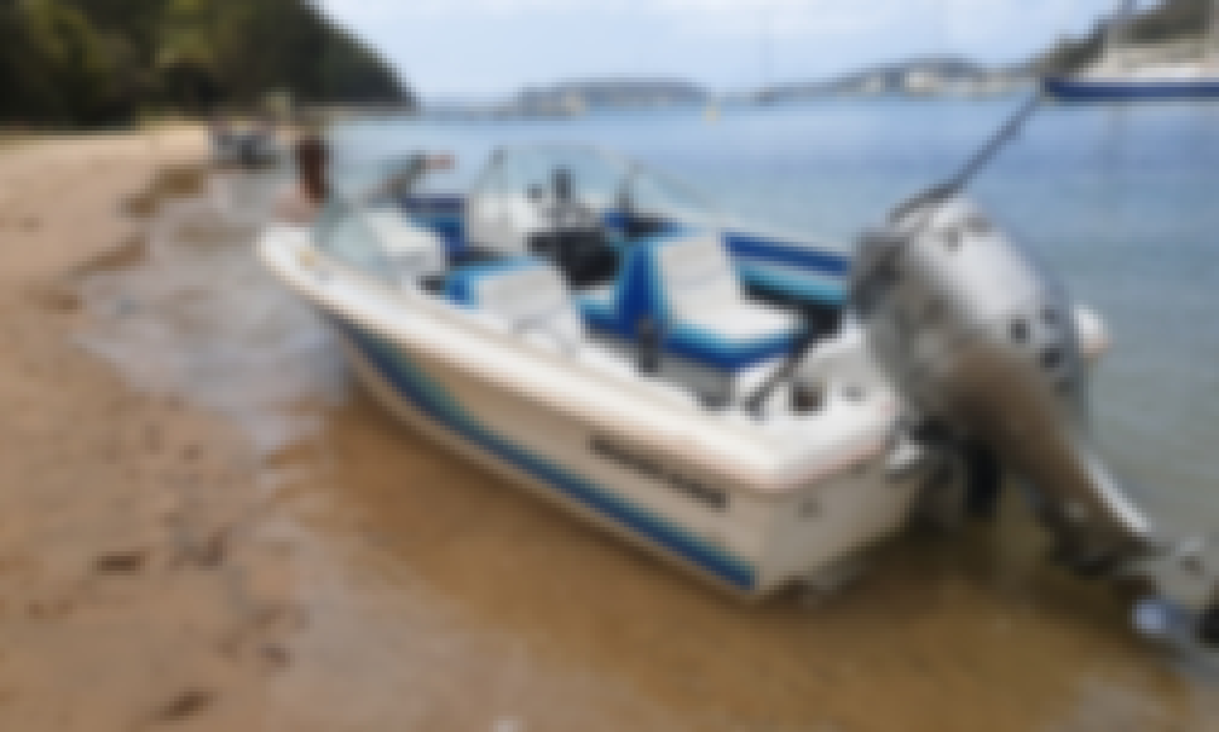 Power boat 75hp for rent in Sydney. Tour available