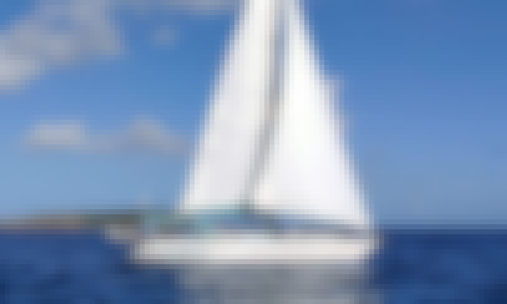 Sail Away in St Thomas with 42' Catalina Sailboat for 6 Guests