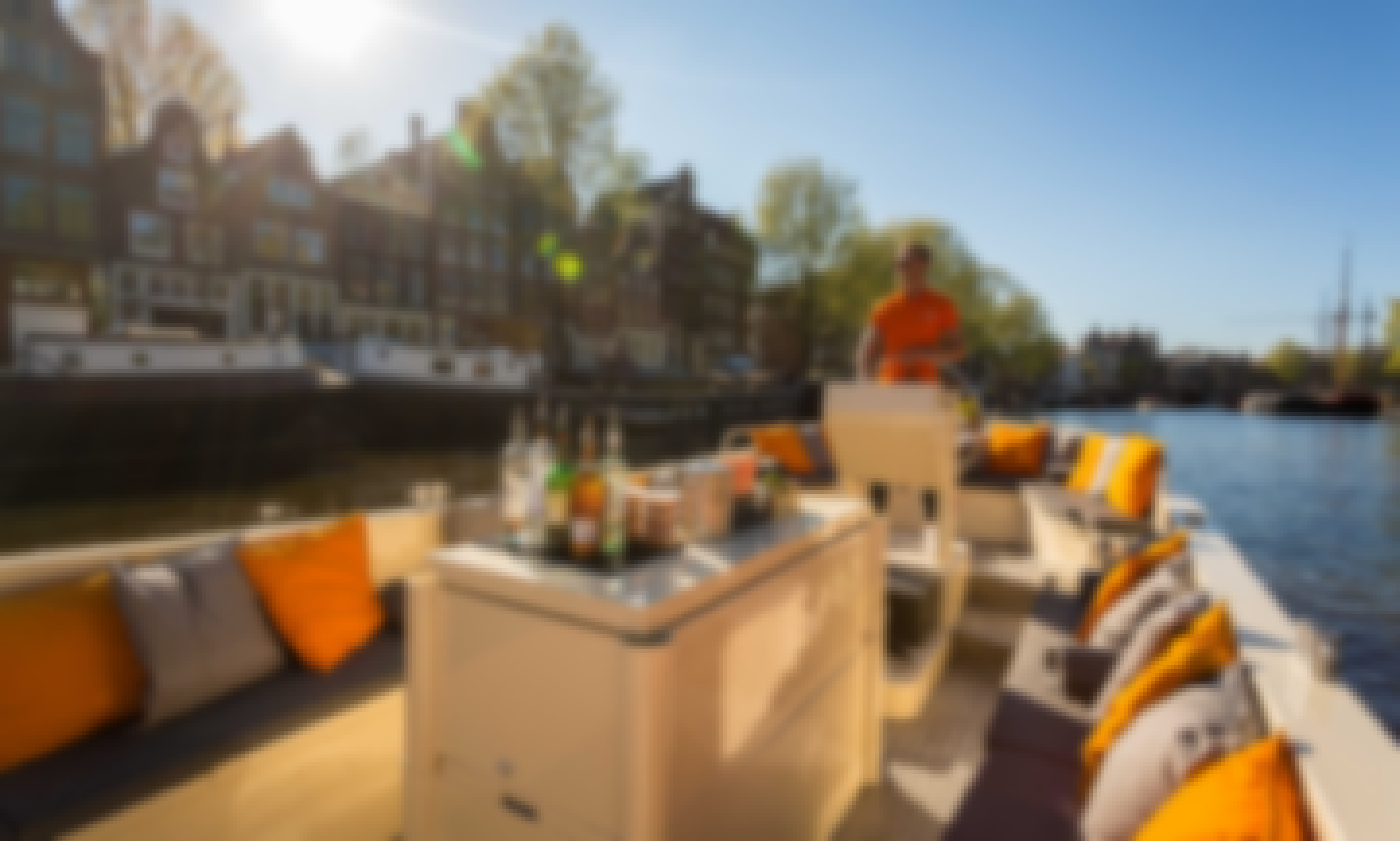 """Rent the """"Green Marine"""" Luxury Open Boat in Amsterdam"""
