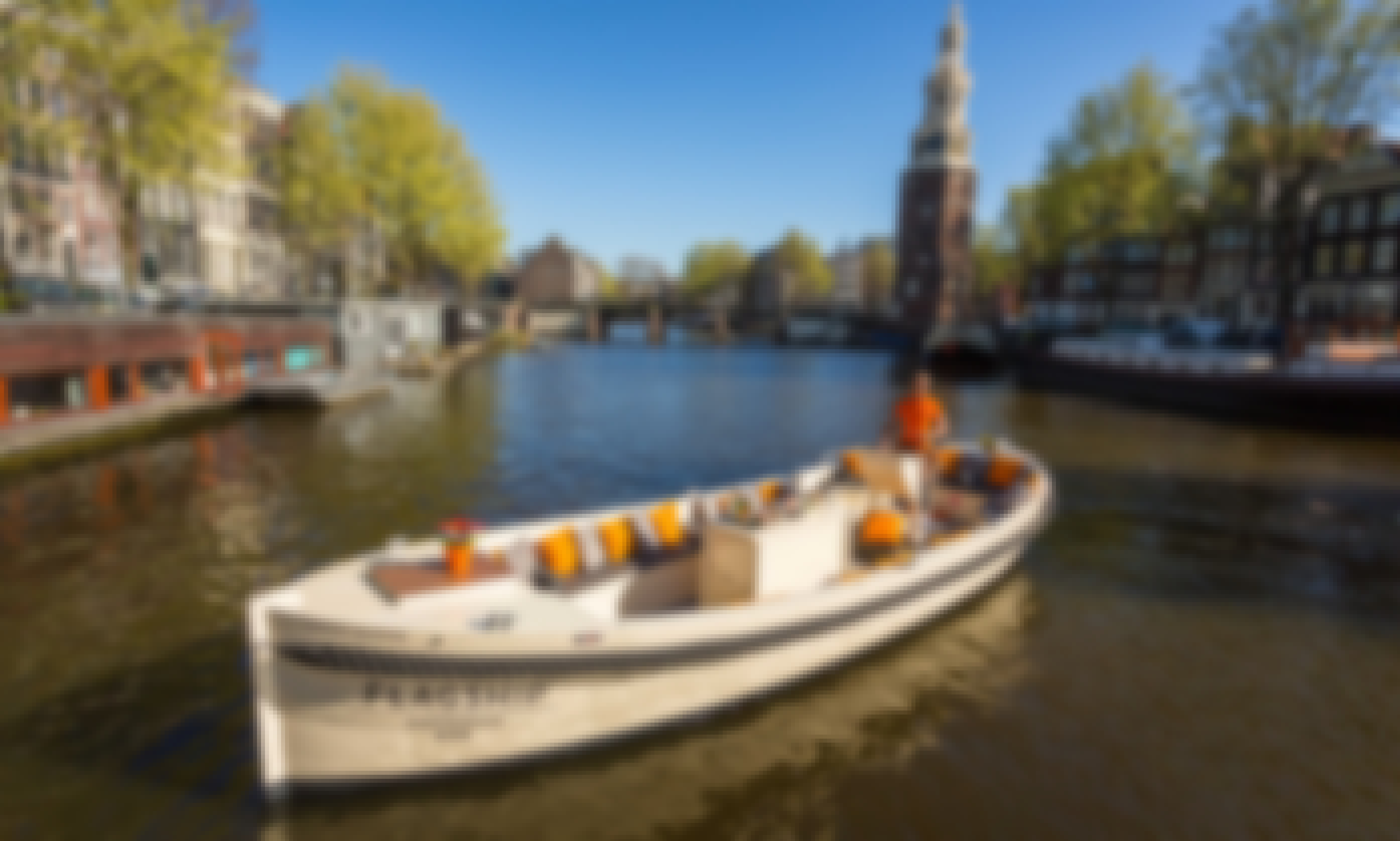 "Rent the ""Green Marine"" Luxury Open Boat in Amsterdam"