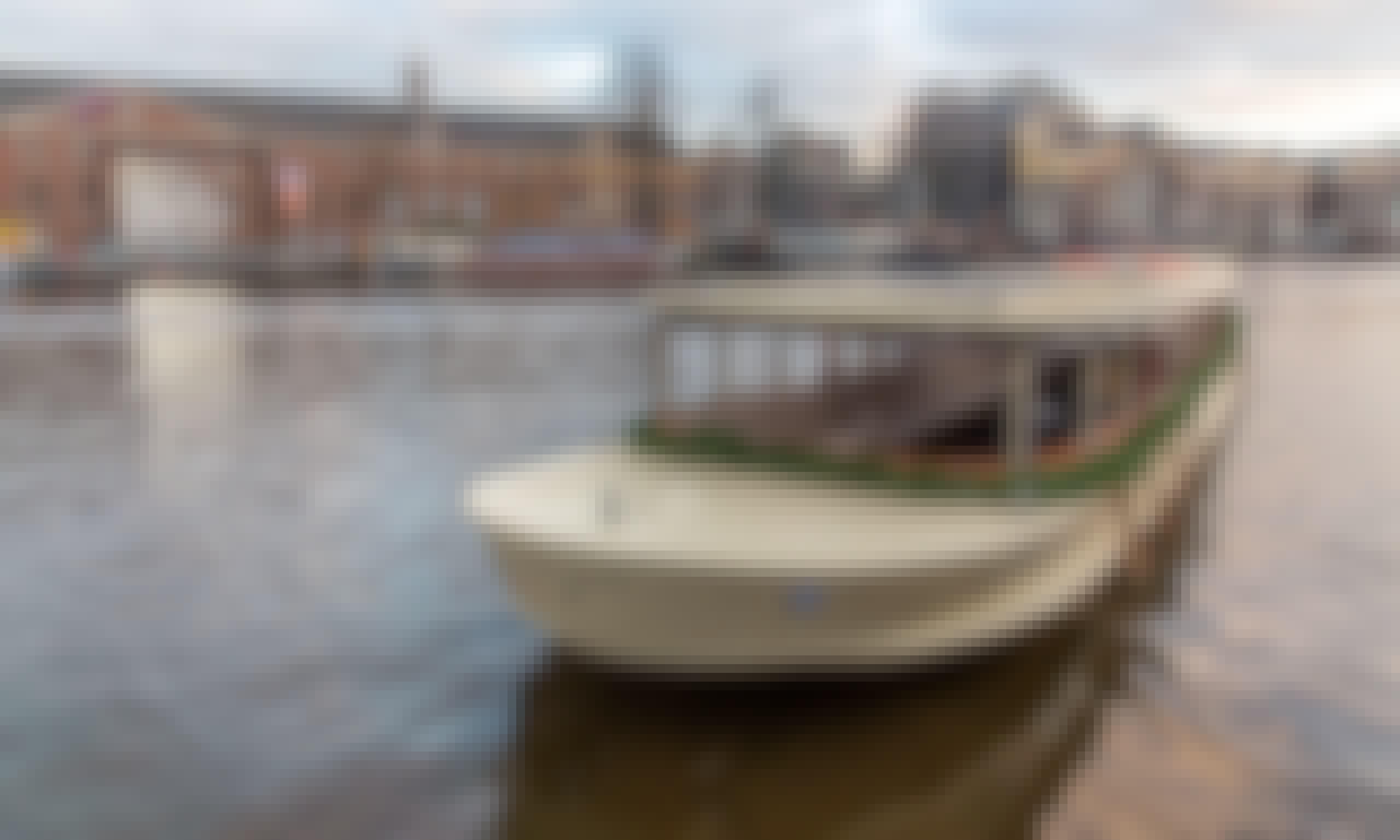 Classic saloon boat TITANIC in Amsterdam