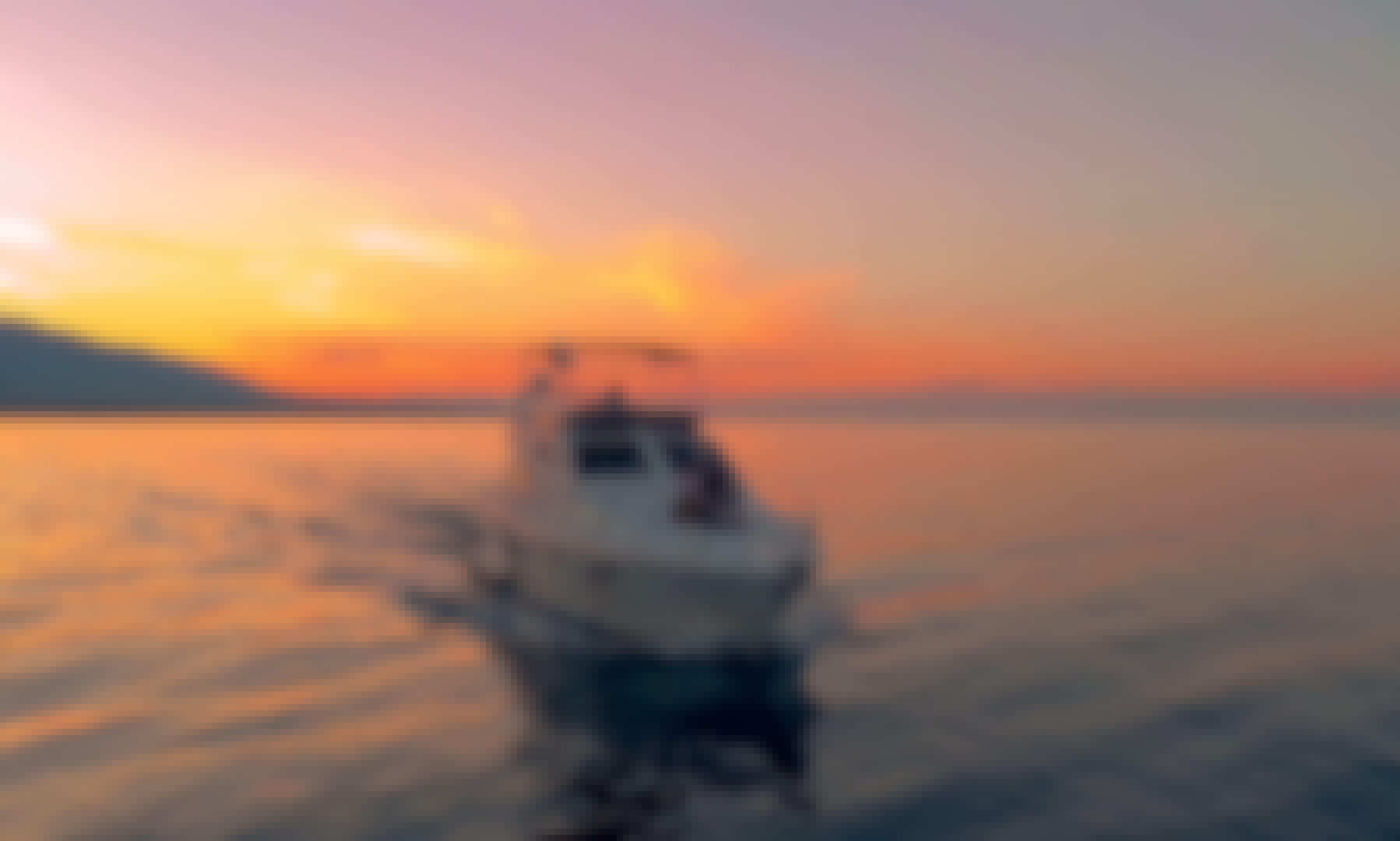 Relax in a Luxury Ferretti Yacht flybridge 47ft in Mykonos, Greece