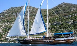 Crewed Charter - Luxury Gulet Maris 37 in Rhodes, Greece!