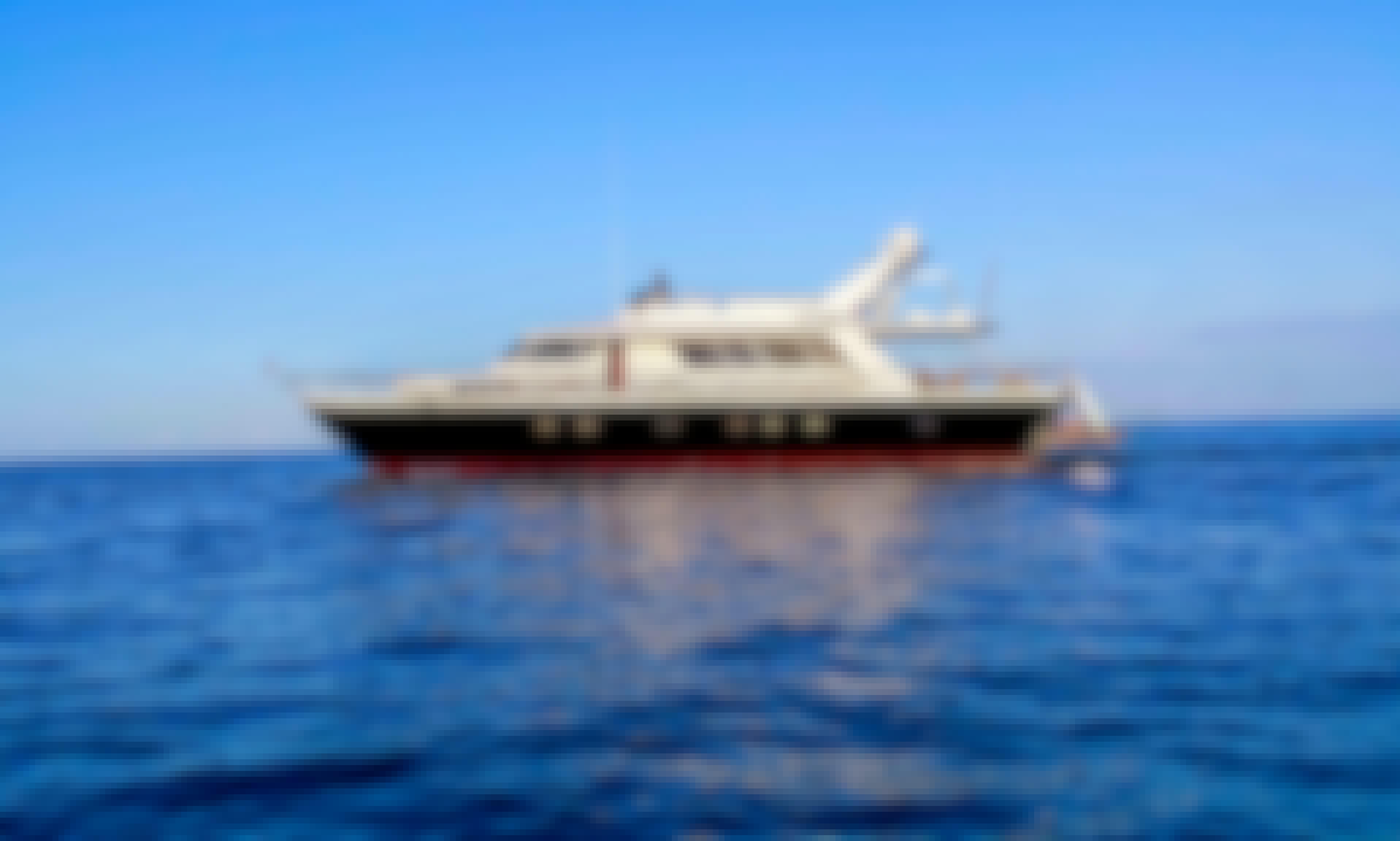 Pegasus 80 Power Mega Yacht in Sardinia, Italy!