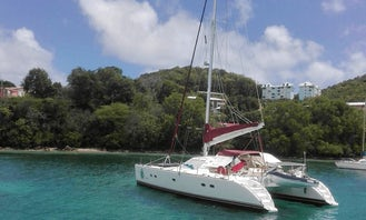 Private Charter on Lagoon 47 Sailing Catamaran in Panamá with Captain Frank and Joselia
