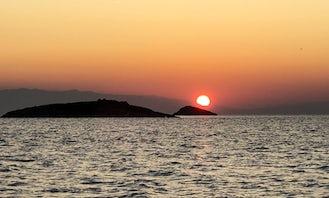 Relaxing fishing with troll in Trogir arhipelago, Croatia