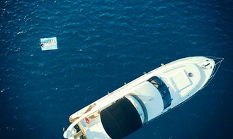 Fly Over with the waves onboard Princess 61' Motor Yacht in Corfu, Greece