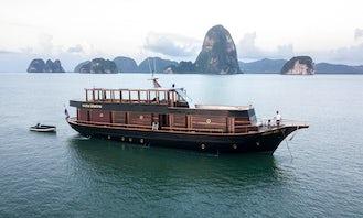 "90' Thai-Crafted Wooden Hull Motor Yacht ""Maha Bhetra"" in Phuket, Thailand!"