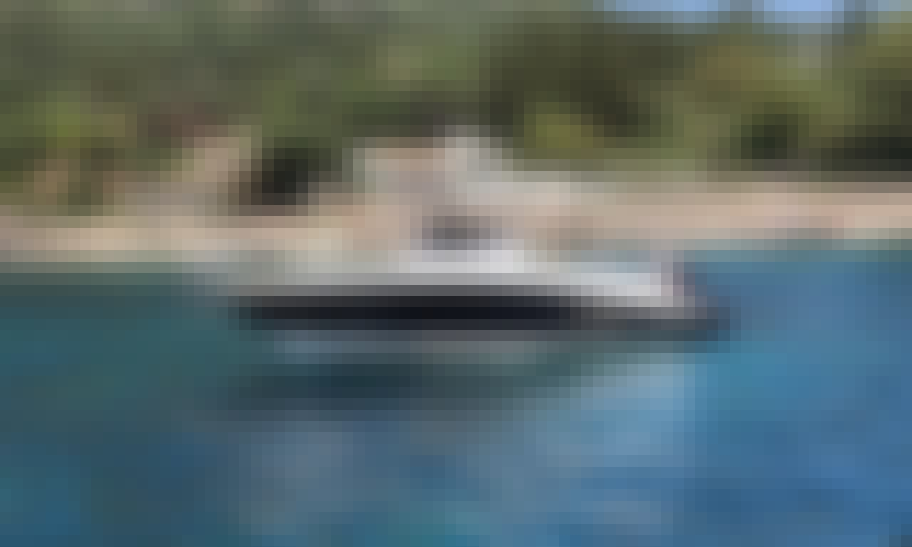"Explore Santorini with Blu Water 640 ""Captain Marvel"" Boat in Vlichada, Greece"
