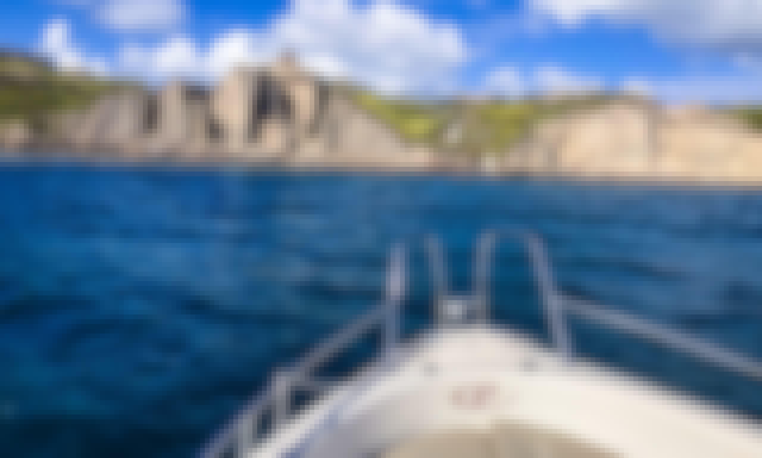"Enjoy Santorini with Blu Water 170 ""Black Panther"" Powerboat in Vlichada, Greece"