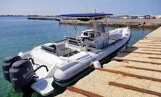 """Private Cruise with """"ALMYRA"""" Great White 10M Port of Pounta, Paros"""