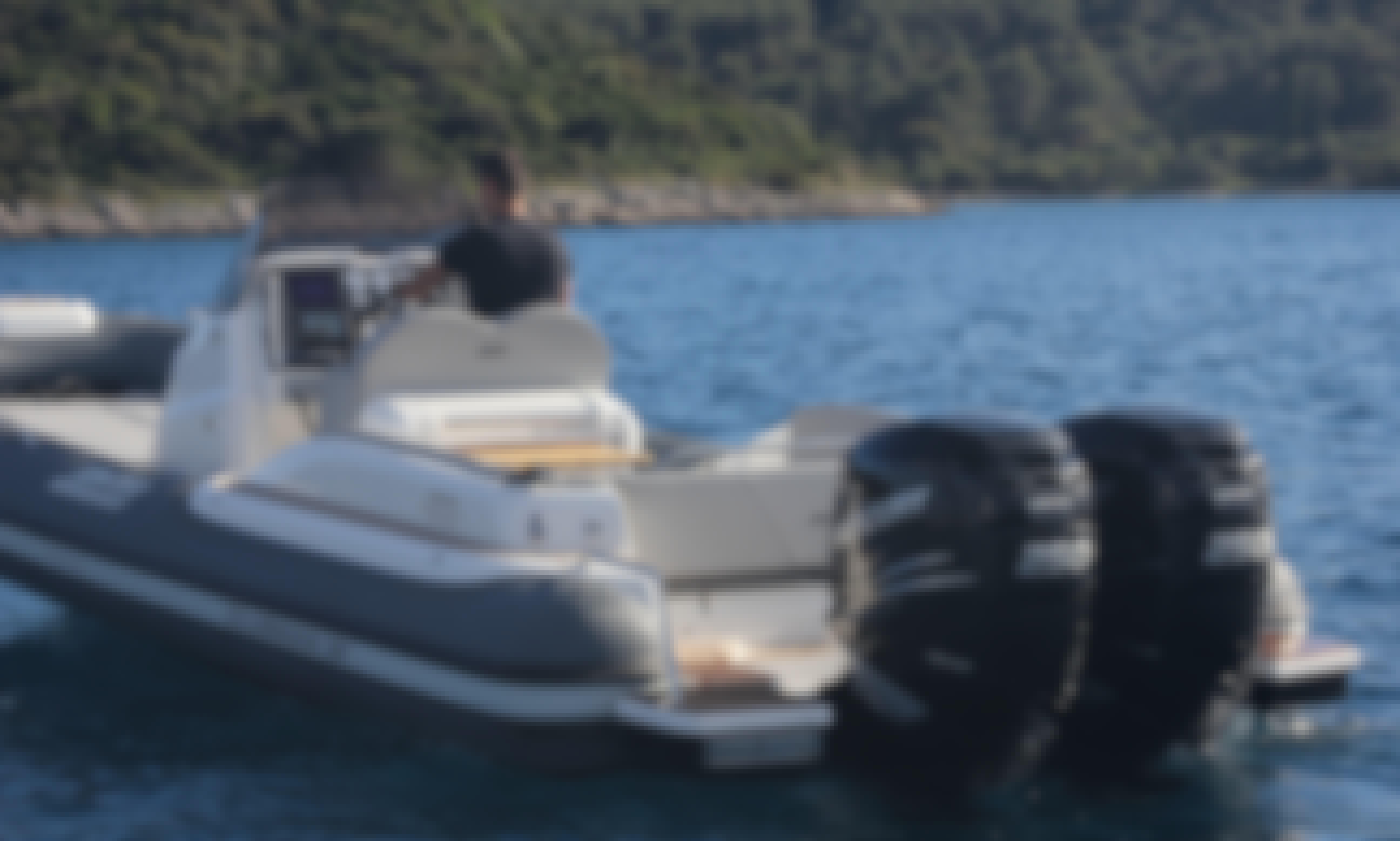 Book the Jokerboat Clubman 28 RIB + 2 X Mercury Verado 250 Hp in Trogir, Splitsko-dalmatinska županija