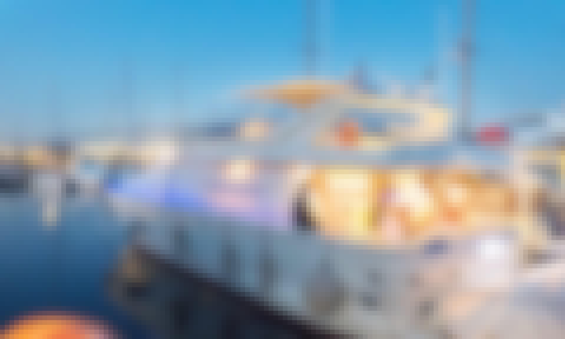 Skippered Charter onboard 78' Luxury Ferretti Power Mega Yacht in Chalkida