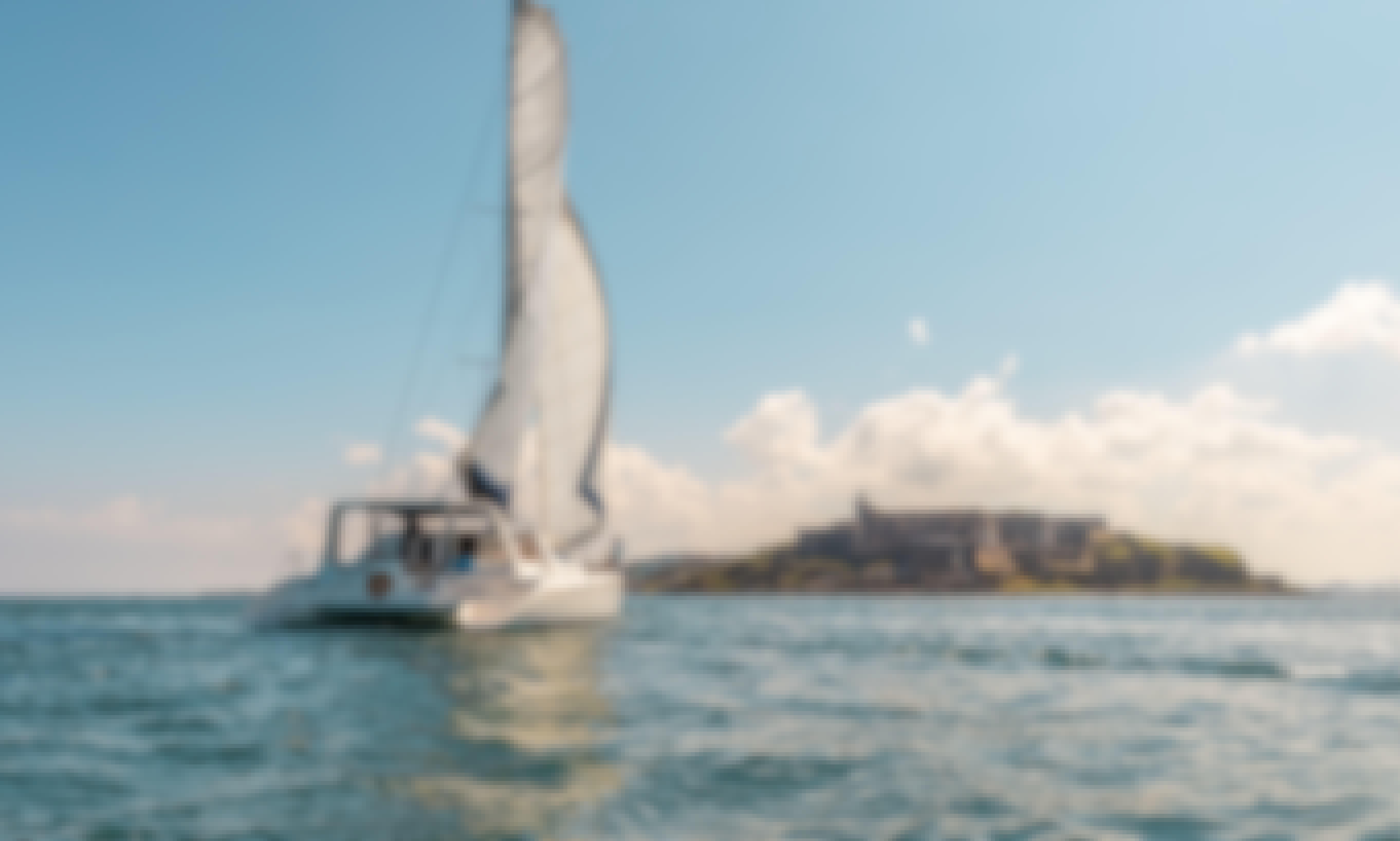 Luxury Sunset Catamaran Charter in San Juan Bay
