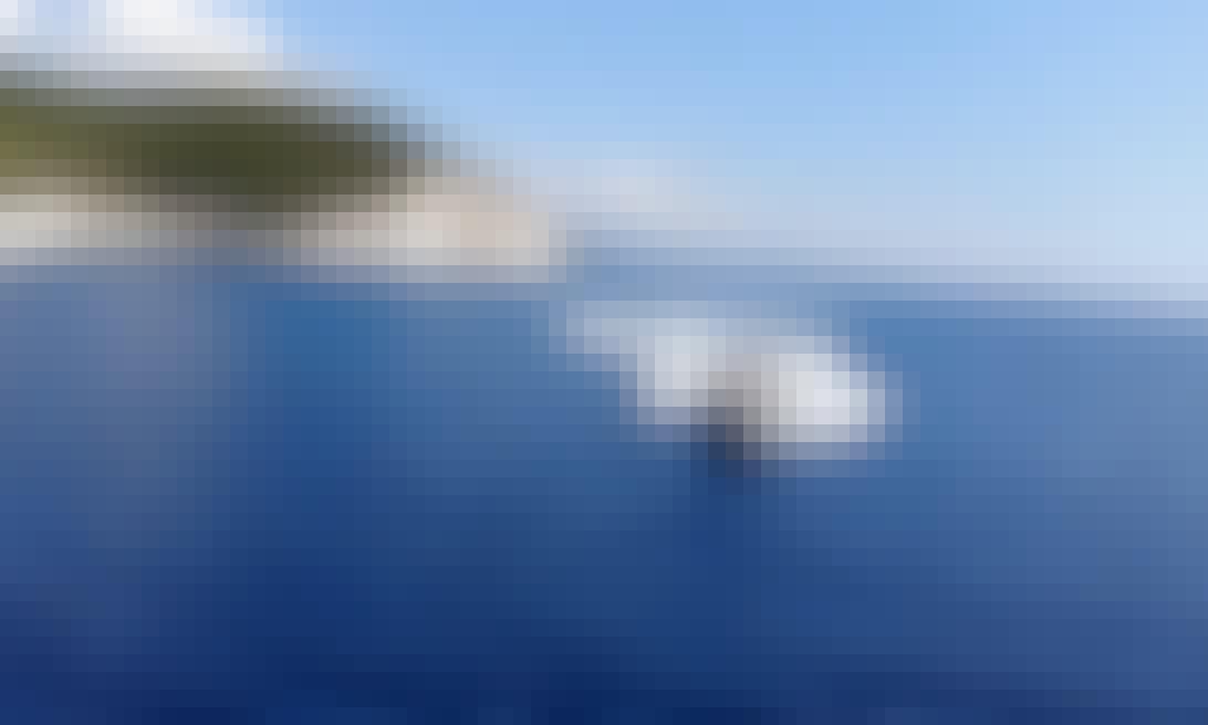 Olympic 490 speedboat Rental in Meganisi, Greece
