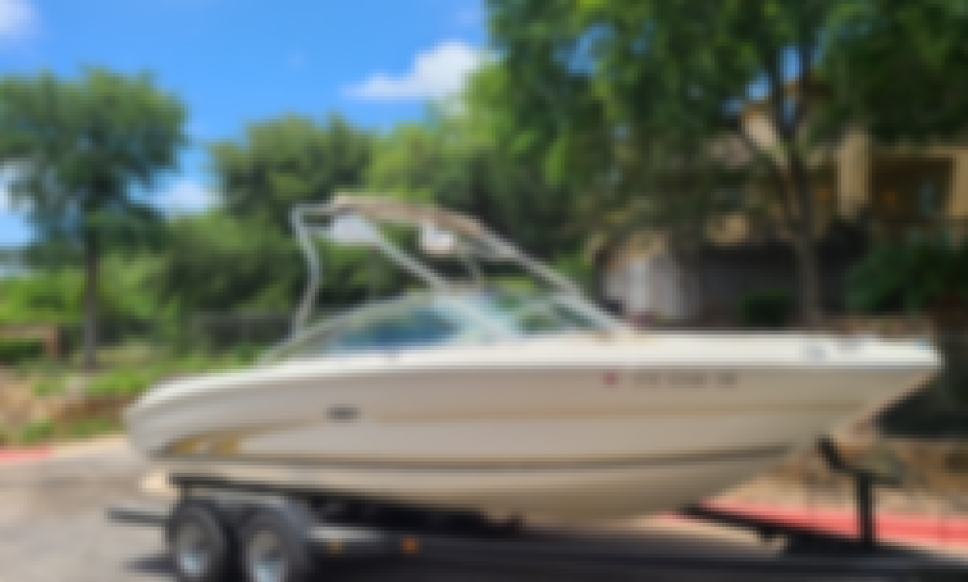 Frank's Boats on Lake Travis - 21 ft Beige Sea Ray with toys and awesome stereo. Have a BLAST on the Lake!!!