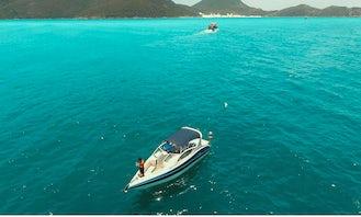 26ft Ipanema Real Motorboat Rental in Arraial do Cabo, Rio de Janeiro
