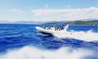 Luxury Speedboat Princi 730 with Skipper for Private Rent in Split