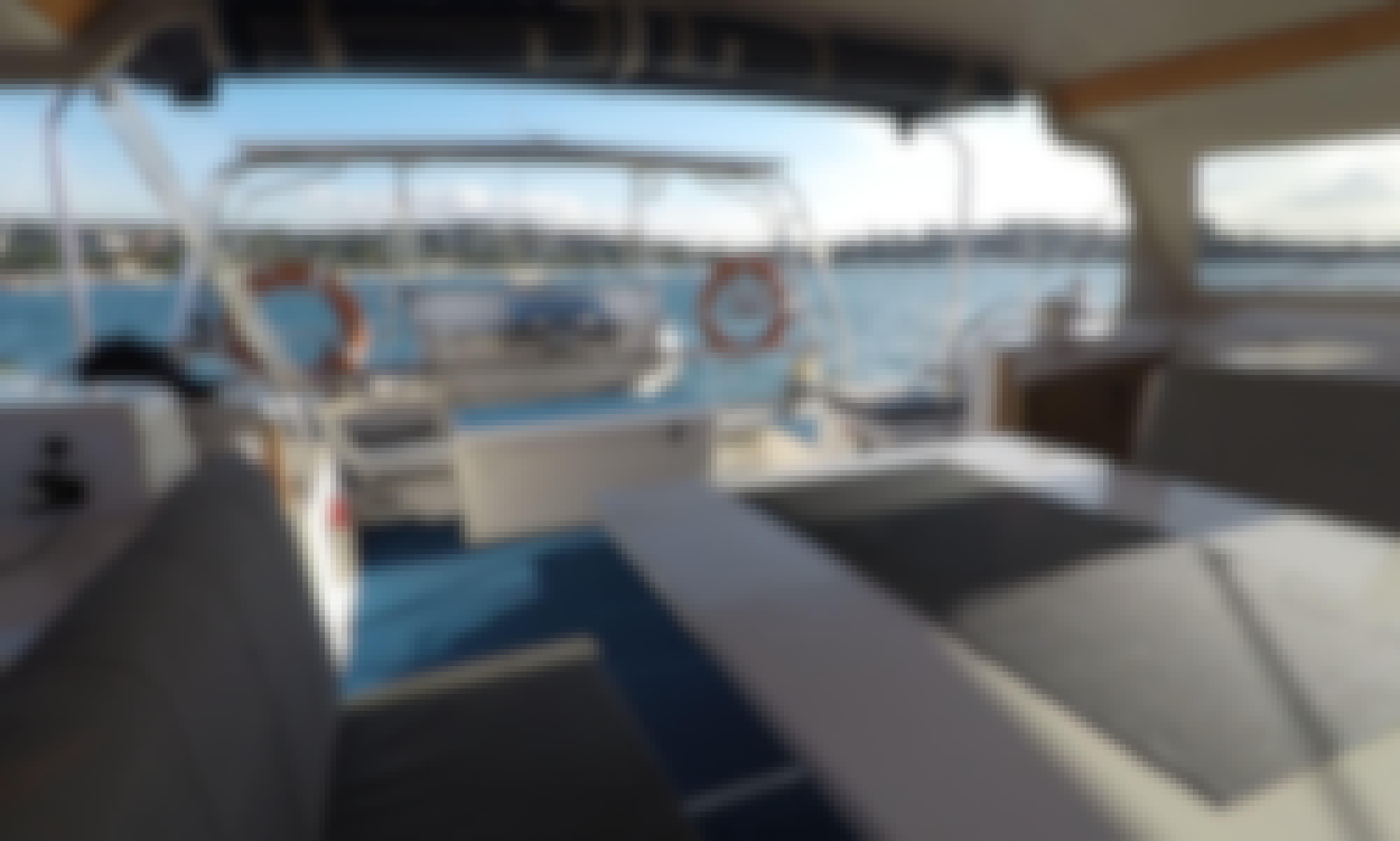 Sailing Sydney Harbour onboard 'Woorabinda' Sailing Catamaran