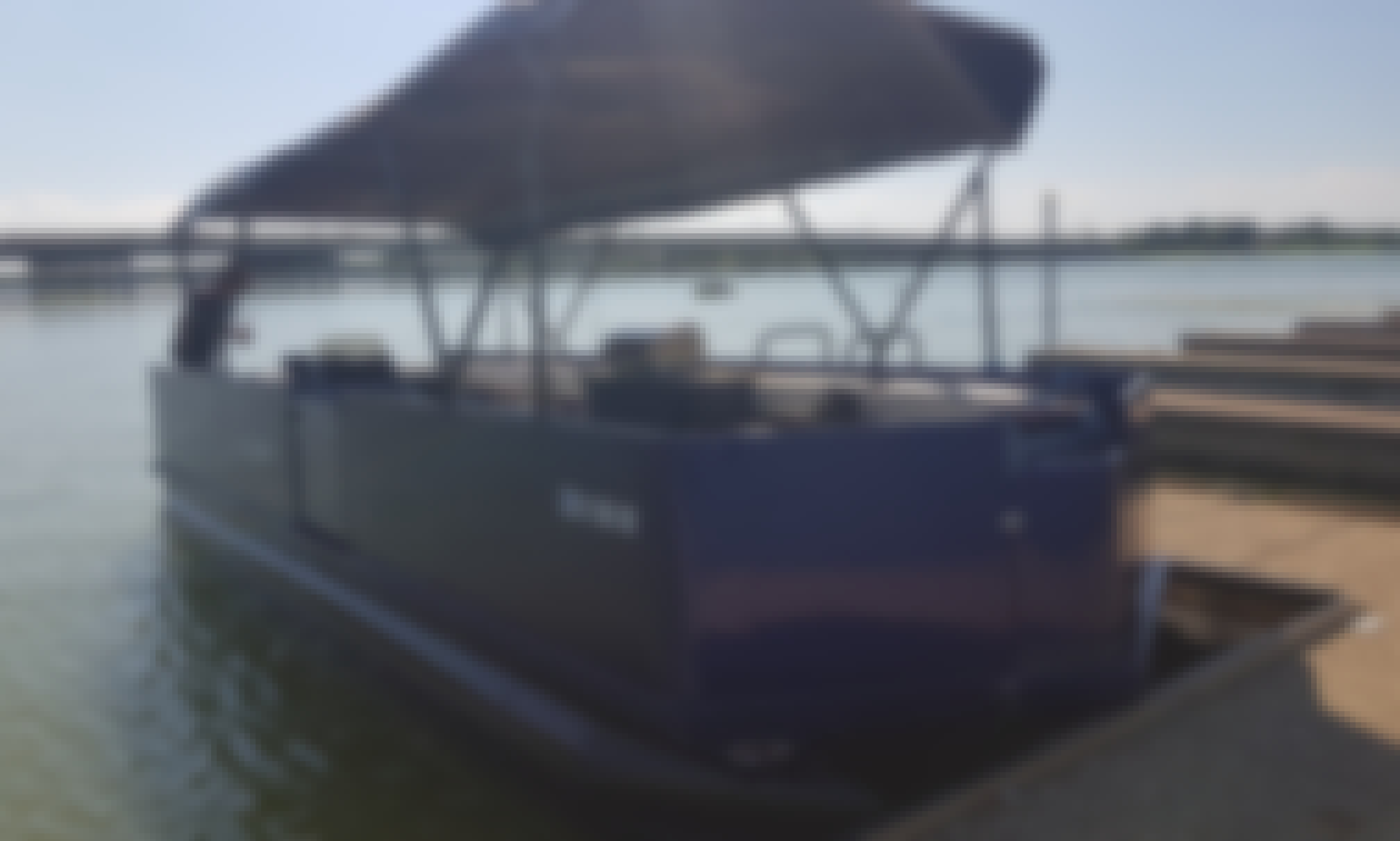 Pontoon 24' Party Boat with Grill; burgers, hot dogs,tacos. ask about menu.