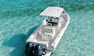 Private Swimming with the Shark's on Compass Cay Tour with  Pro Line 25 Sport Center console!