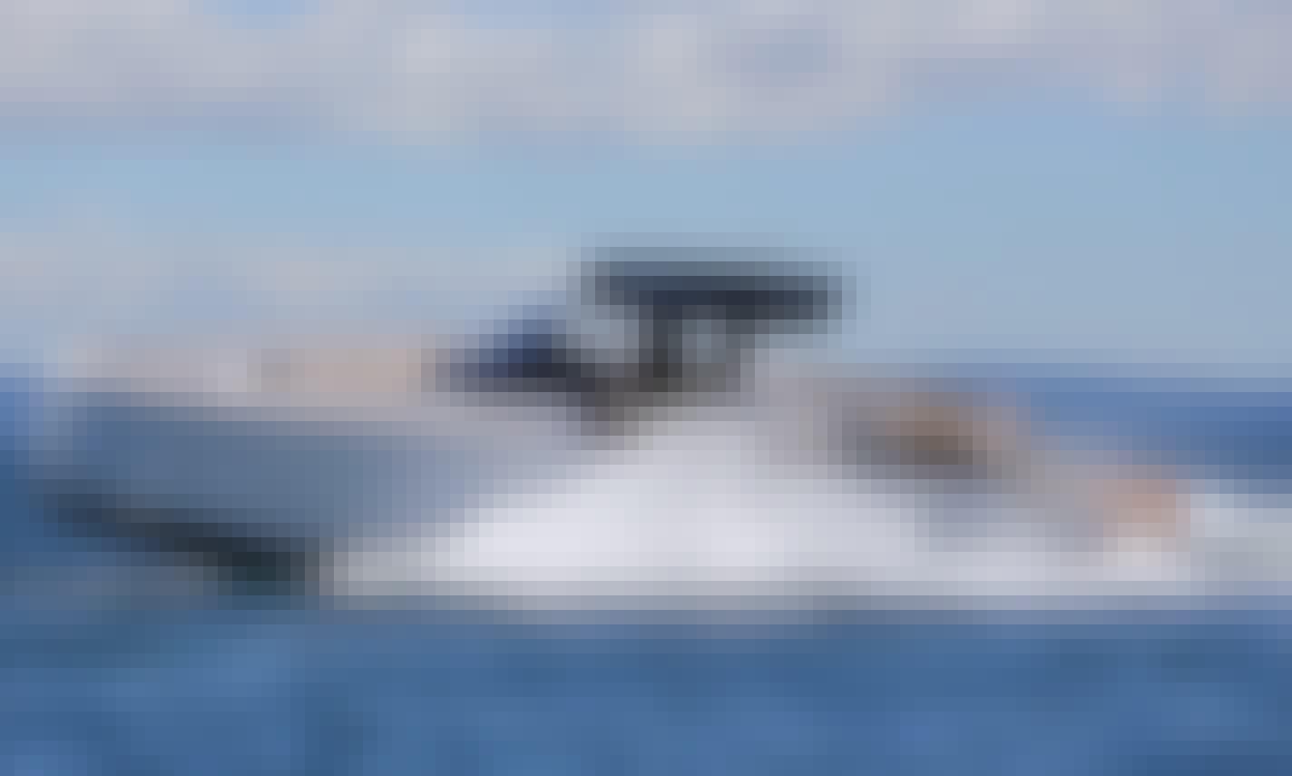 Daily Trip from Antiparos to Despotiko Island with Pardo 38 Power Yacht