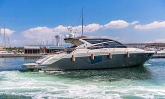 Cranchi 60 Luxury Motor Yacht Rental in Campania, Italy