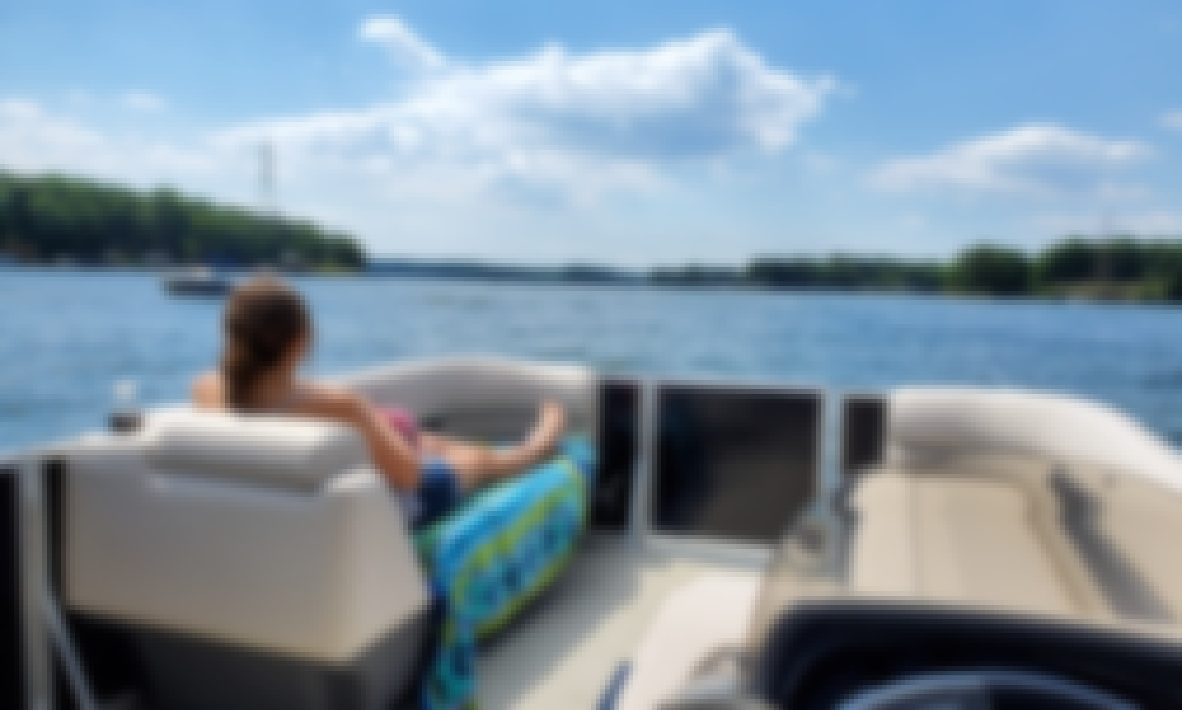 Cruise, swim, party and enjoy on a brand new 2020 Tritoon on Lake Norman