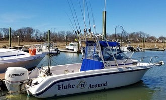 Fishing Charter On 25ft ''Fluke n' Around'' Wellcraft Boat in Union Beach, New Jersey