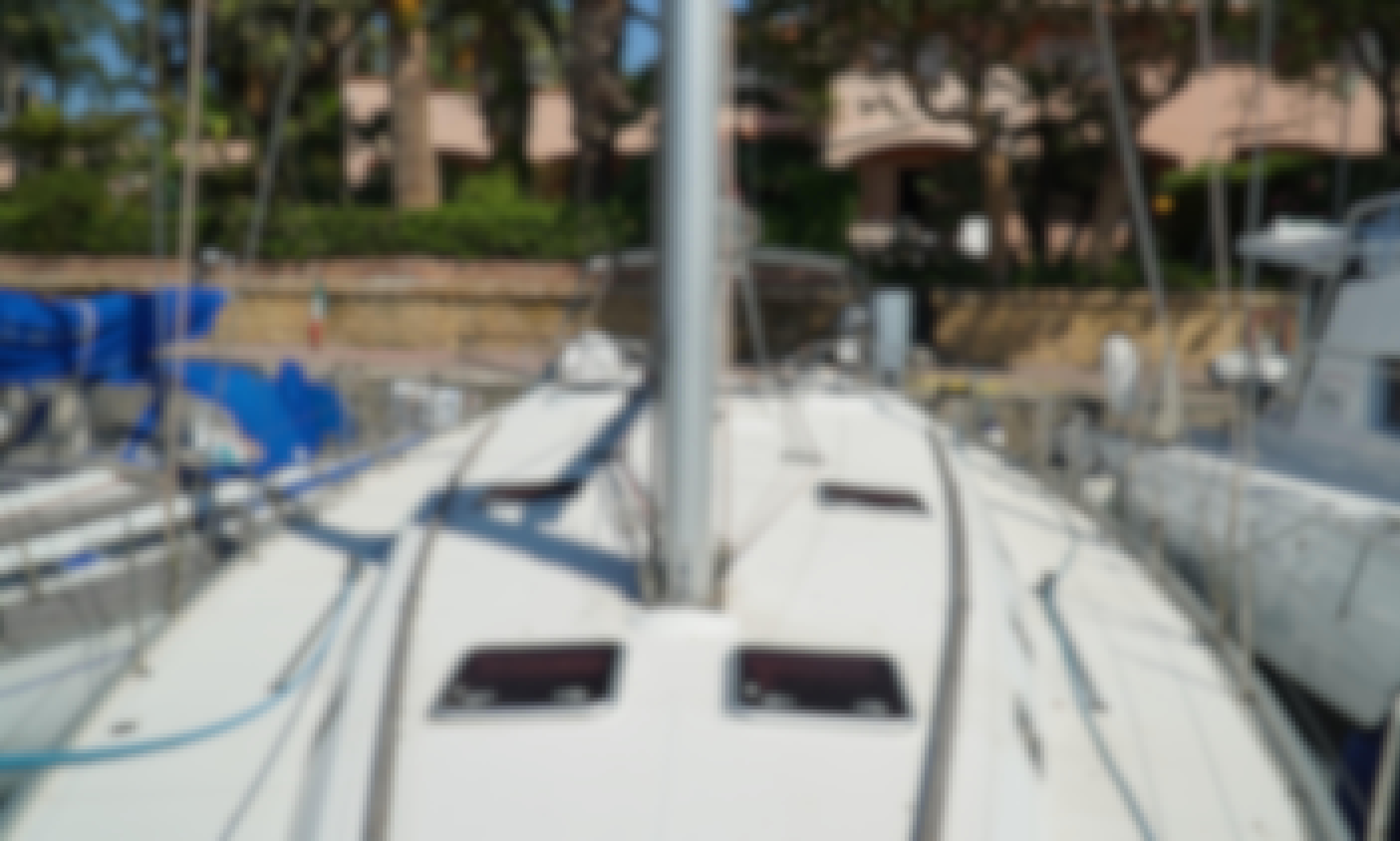 50' Beneteau Cyclades Sailing Boat in Aeolian Island