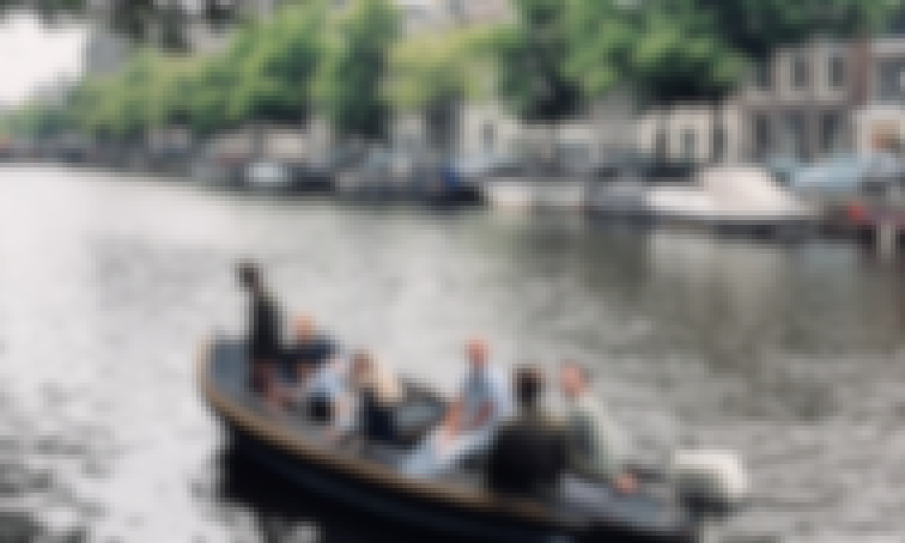 Rent a 18 ft steel canal boat in Amsterdam, Netherlands