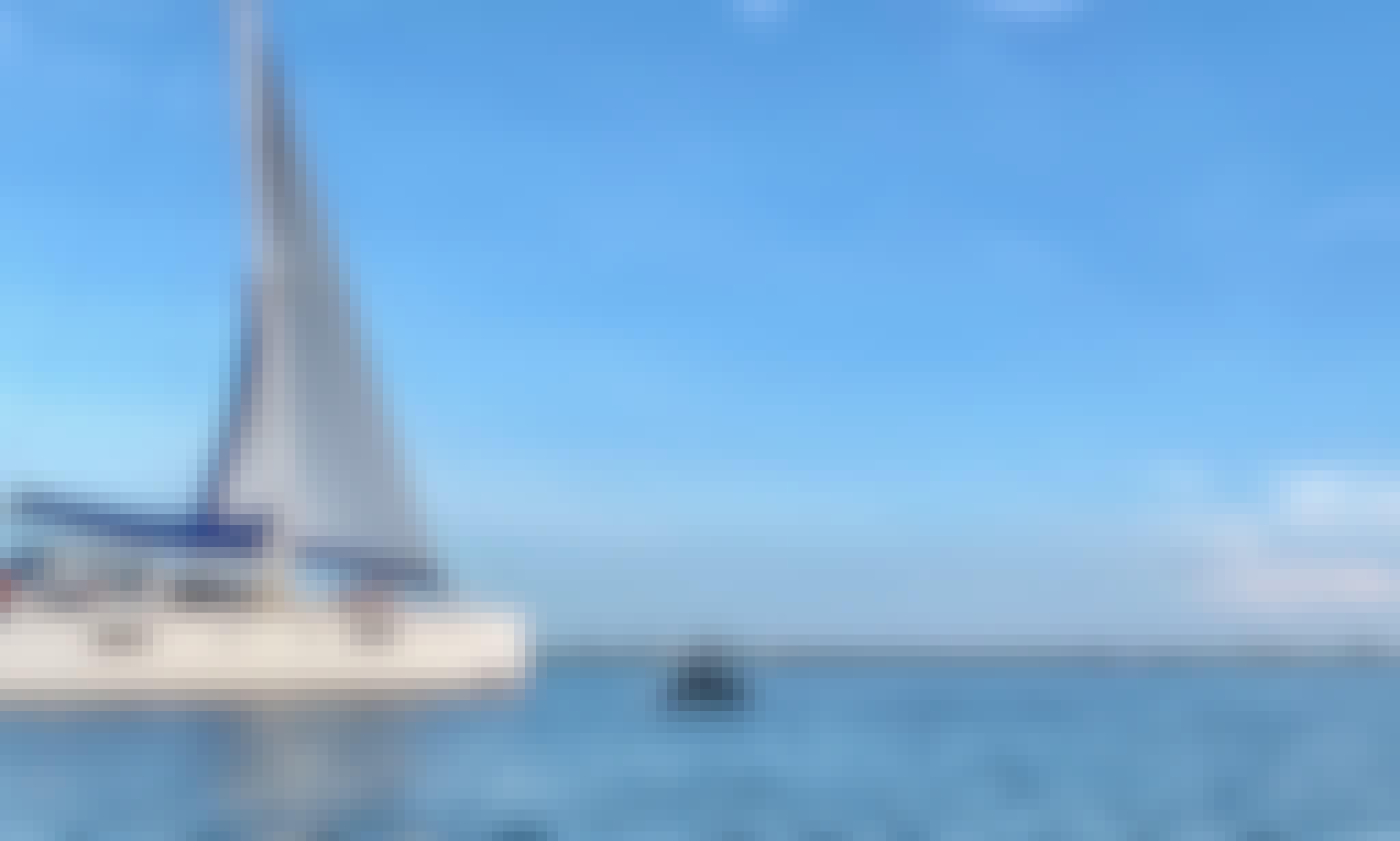 Sailing Catamaran Yacht in Folly Beach