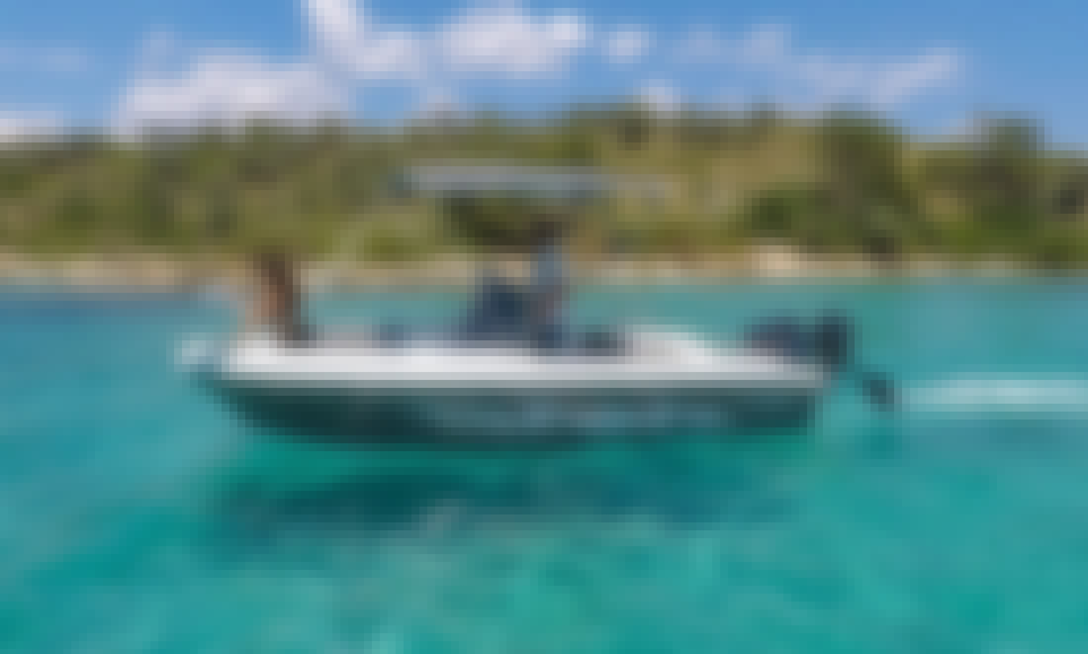 Self Driving Elite 53cc PowerBoat for 8 People in Chalkidiki